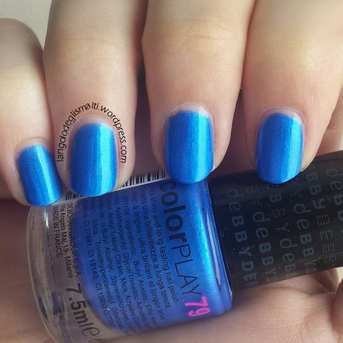 deBBY colorPLAY 79 - 2 passate - no top coat - luce naturale