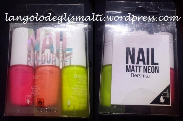 Bershka - Nail Colour Set - Nail Matt Neon