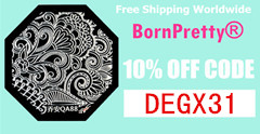 Born Pretty Store 10% off code: DEGX31