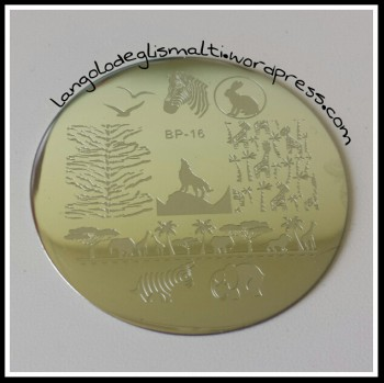 Born Pretty Store Stamping Plate BP-16