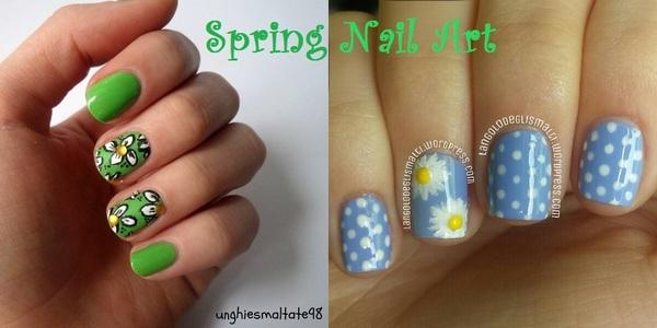 Spring Nail Art - Unghiesmaltate98 feat. L'Angolo degli Smalti