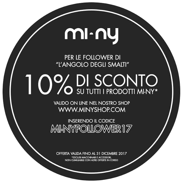 Mi-Ny 10% off: MI-NYFOLLOWER17